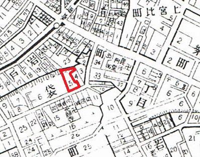 昭和5年 牛込区全図