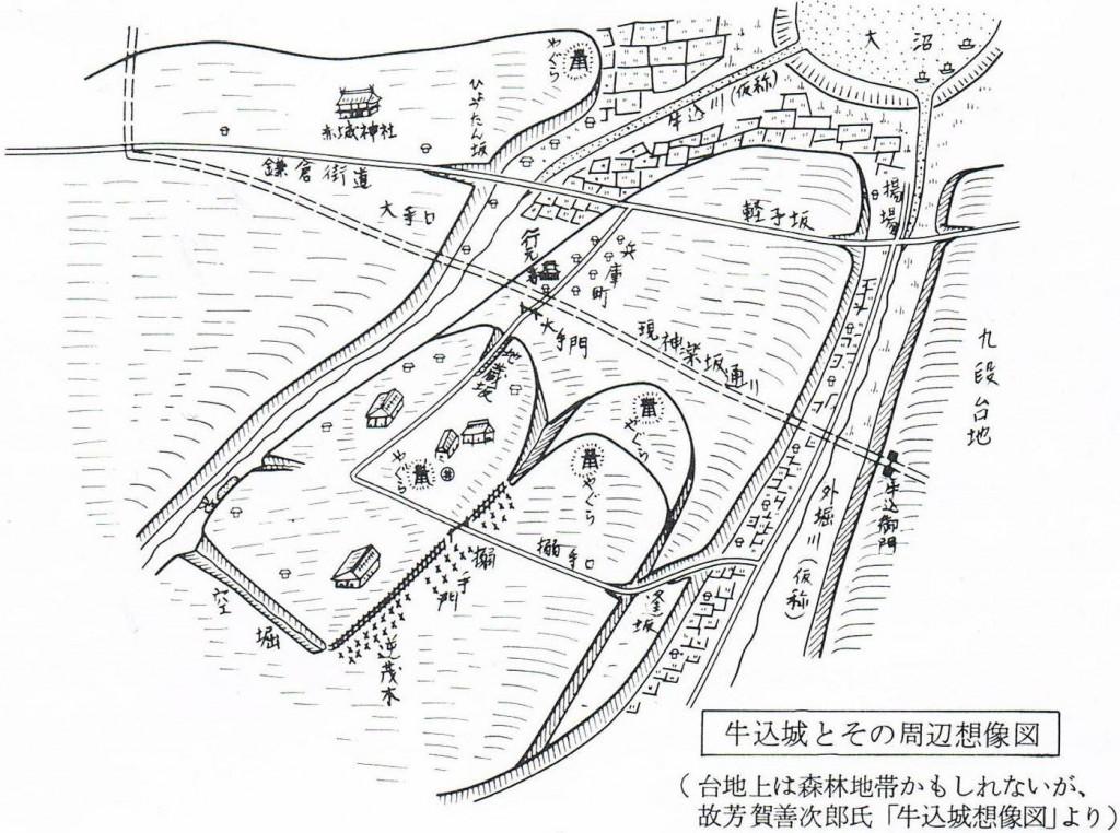 牛込城の想像図