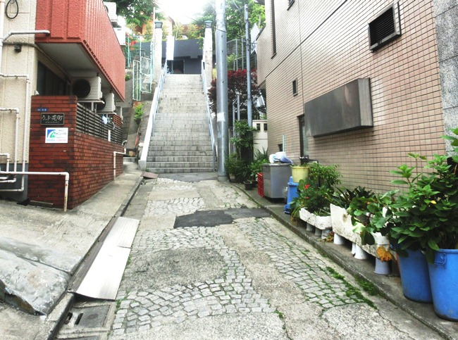赤城坂の石畳