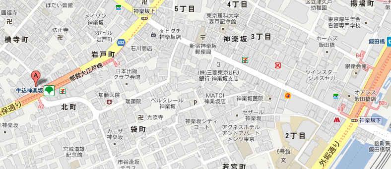 袖摺坂の地図