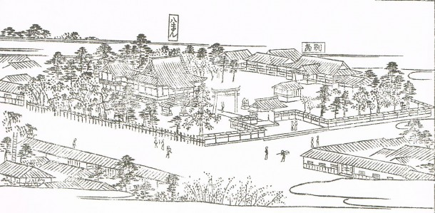 江戸名所図会の若宮八幡