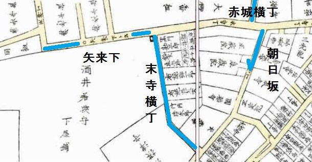 末寺横丁 地図 江戸時代
