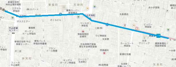 矢来町 漱石 現代