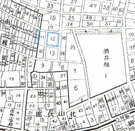 ヌエットと泉鏡花 地図は昭和5年「牛込區全圖」から