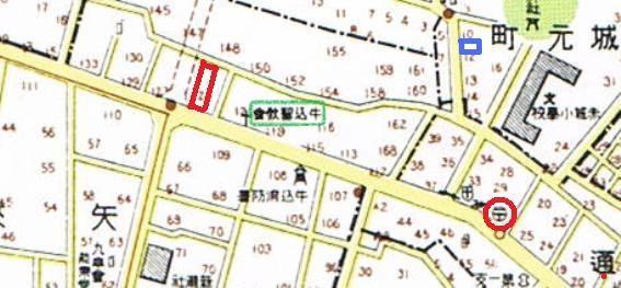 昭和16年の矢来町