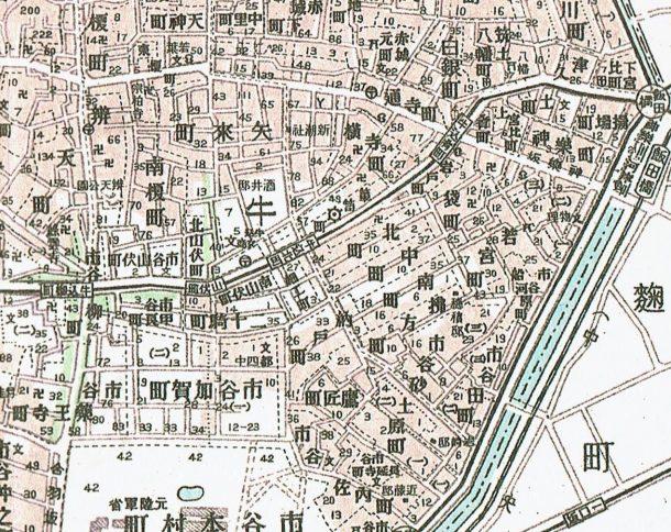 東京都35区区分地図帖。戦災焼失区域表示