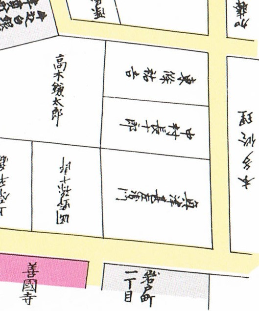 嘉永5年(1852年)の神楽坂4丁目