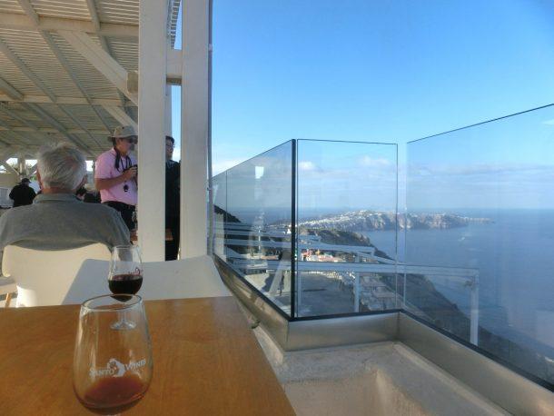 Wineryで。ここでも外輪山の頂上にある。