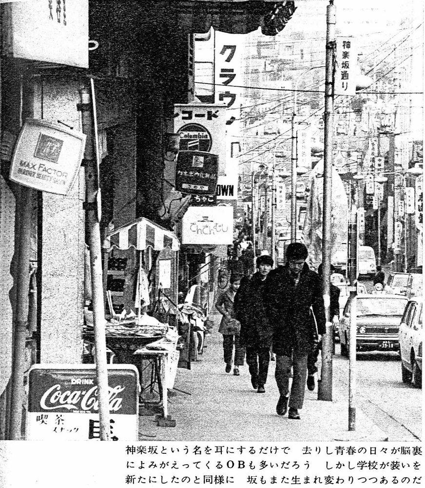 神楽坂通り(昭和46年)