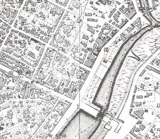 明治18-20年。東京実測図。地図で見る新宿区の移り変わり。昭和57年。新宿区教育委員会。
