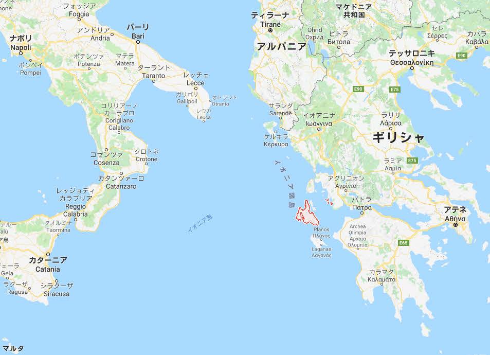 ケファロニア島は、マルタ国より大きい島。